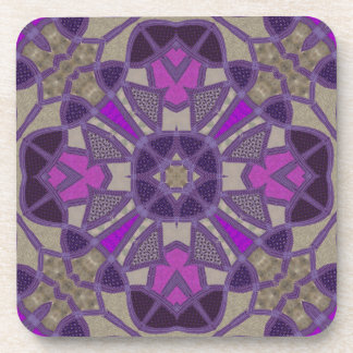 Dark and Light Purple Tiles Coaster