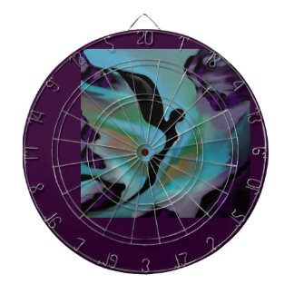 Dark Angel on Purple, Blue & Black by Lin Masters Dartboard