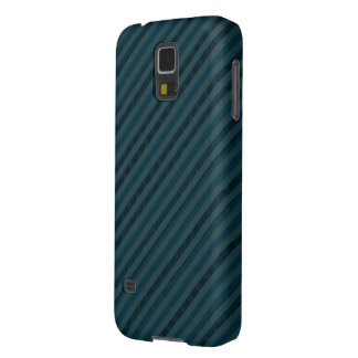 Dark Aqua Navy Blue Stripes - Beautiful Yet Manly Galaxy S5 Covers