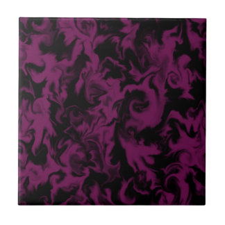 Dark Berry Pink & Black mixed color tile