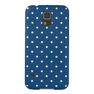Dark Blue 50s Style Polka Dot Galaxy S5 Case