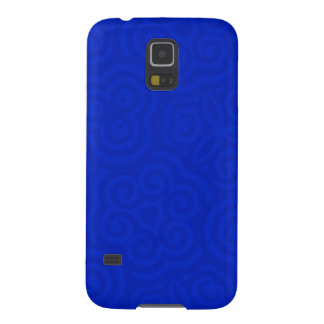 Dark Blue Abstract Pattern Case For Galaxy S5