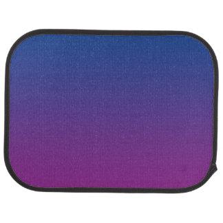 """Dark Blue And Purple Ombre"" Car Mat"