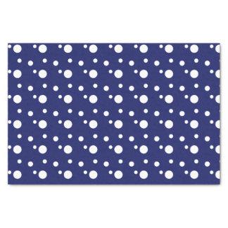 Dark Blue and White Polka Dots Tissue Paper
