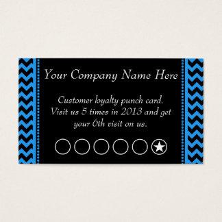 Dark Blue Chevron Discount Promotional Punch Card
