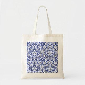 Dark blue damask pattern bag