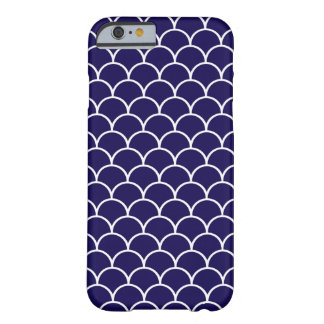 Dark Blue Dragon Scales Barely There iPhone 6 Case