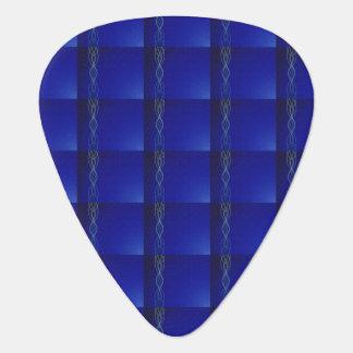 Dark Blue Lights Guitar Pick