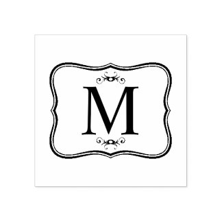 Dark Blue Pattern – Classy Men's Monogram Rubber Stamp