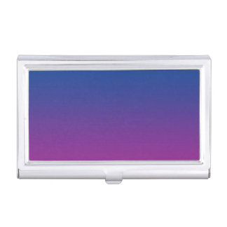 Dark Blue & Purple Ombre Business Card Holder