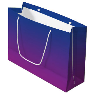 Dark Blue & Purple Ombre Large Gift Bag