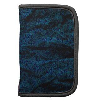 Dark blue textured folio mini folio planners