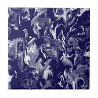 Dark Blue & White Mixed Color Tile