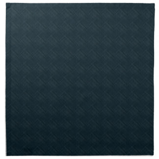 Dark Blue With Checkered Pinstripe Cloth Napkin