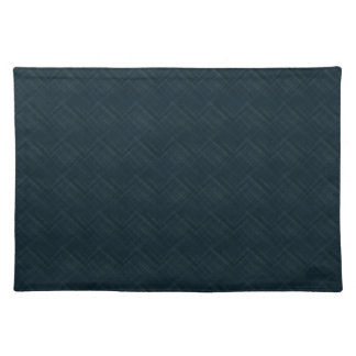Dark Blue With Checkered Pinstripe Place Mat