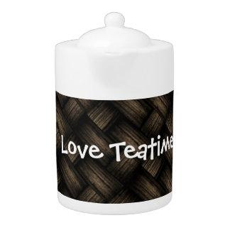 Dark Braided Design Tea Pot