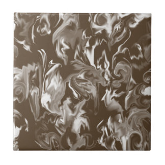 Dark Brown and White Mixed Color Tile
