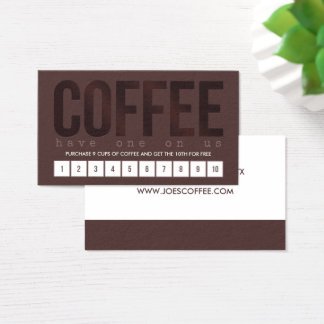 Dark Brown Coffee Punch Card