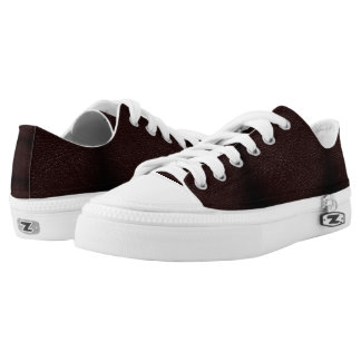 Dark Brown Faux Leather Zipz Low Top Shoe, Men Printed Shoes