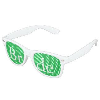 Dark Chalky Pastel Green Wedding Party Set Retro Sunglasses