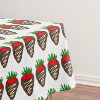 Dark Chocolate Covered Dipped Strawberry Foodie Tablecloth
