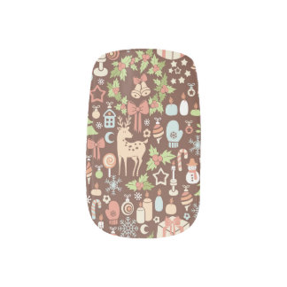 Dark Christmas background Minx Nail Art