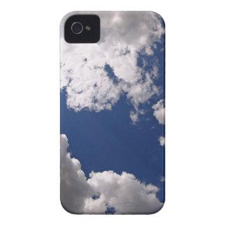 Dark clouds in the blue sky iPhone 4 case