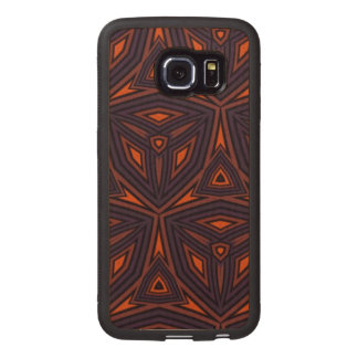 Dark colored pattern wood phone case