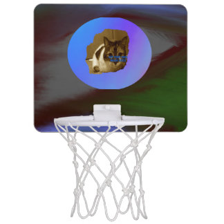 Dark colors Abstract with Image Template Mini Basketball Hoop