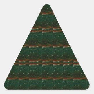 DARK CRYSTAL SLAB PATTERN GREEN lowprice GIFTS Triangle Sticker