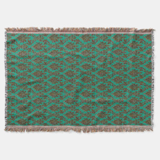 Dark Damask Multicolored Throw Blanket