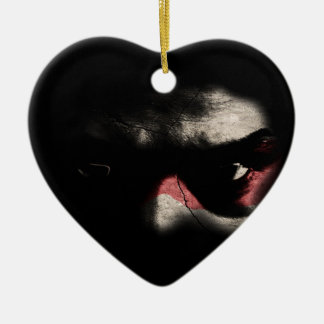 Dark Eyes Ceramic Heart Decoration