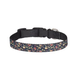 Dark Floral Dog Collar