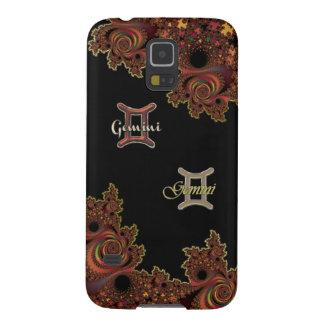 Dark Fractal Zodiac Sign Gemini Galaxy S5 Case