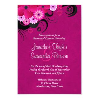 Dark Fuchsia 5x7 Wedding Rehearsal Dinner Invites