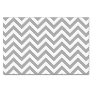 Dark Gray White Large Chevron ZigZag Pattern Tissue Paper