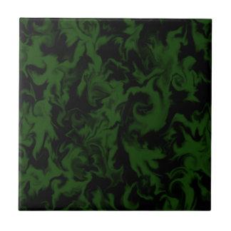 Dark Green & Black mixed color tile