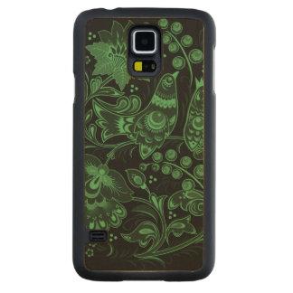 Dark Green Hohloma Maple Galaxy S5 Slim Case