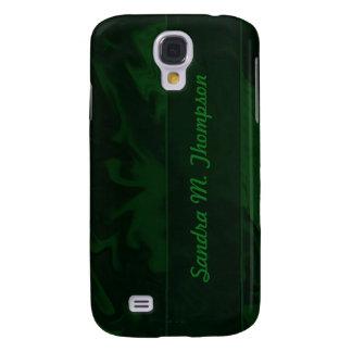 Dark Green marble texture Galaxy S4 Case