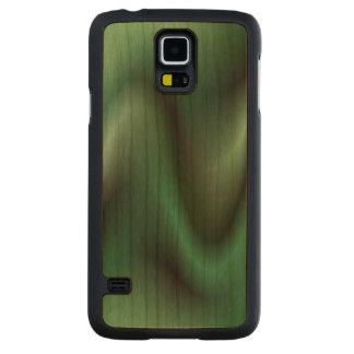 Dark green wave design cherry galaxy s5 case