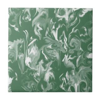 Dark Green & White Mixed Color Tile