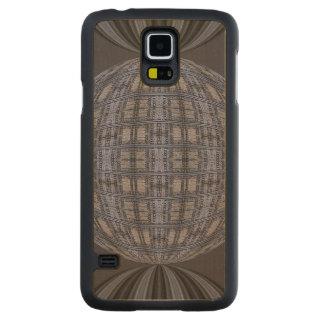 Dark Grey Blue Globe Abstract Maple Galaxy S5 Slim Case