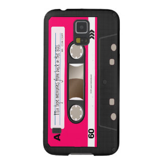 Dark Hot Pink Retro Cassette Tape Personalized Galaxy S5 Case