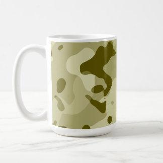 Dark Khaki Camo; Camouflage Basic White Mug