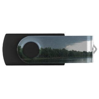 Dark Menacing Storm Cloud over a Lake valley USB Flash Drive