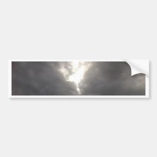 Dark Moods -- Grey clouds in Spring with Sun. Bumper Sticker