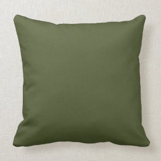 Dark Olive Army Green Modern Colour Only 4 Cushion
