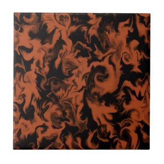Dark Orange & Black mixed color tile