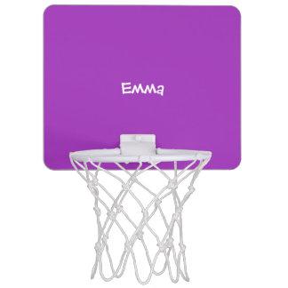 Dark Orchid Personalized Mini Basketball Hoop