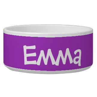 Dark Orchid Personalized Pet Bowl